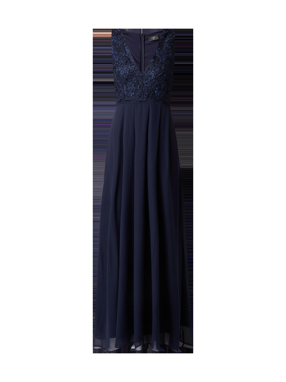 AX-PARIS Abendkleid mit floralen Stickereien in Blau   Türkis online kaufen  (9815571) ▷ P C Online Shop 8bf552d39e