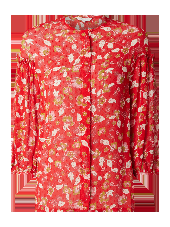 Part Two – Sukienka z wiskozy w kwiatowy wzór – Czerwony