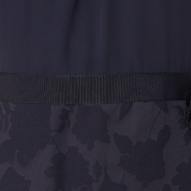 comma Kleid mit floralem Muster am Rockteil Marineblau - 1