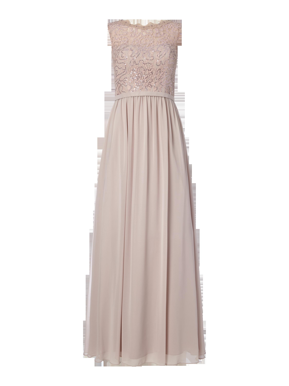 UNIQUE Abendkleid mit Pailletten-Besatz in Lila online kaufen ...