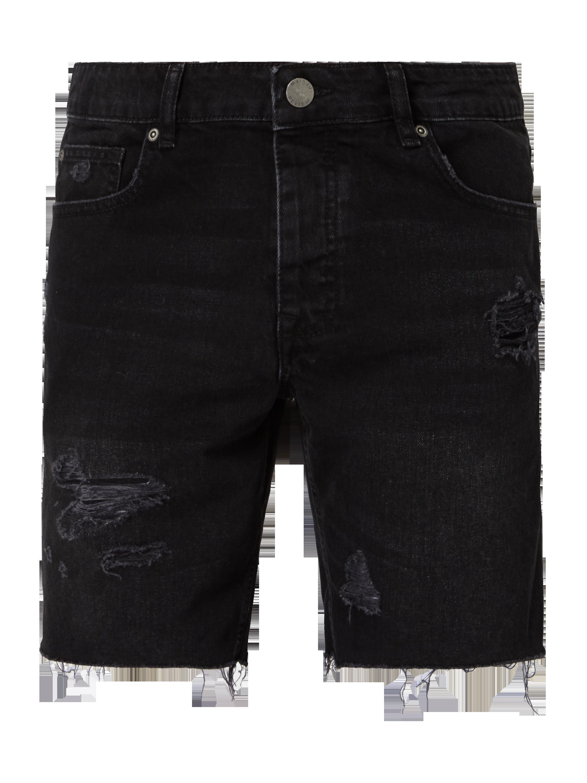REVIEW – Jeansshorts im Destroyed Look – Schwarz