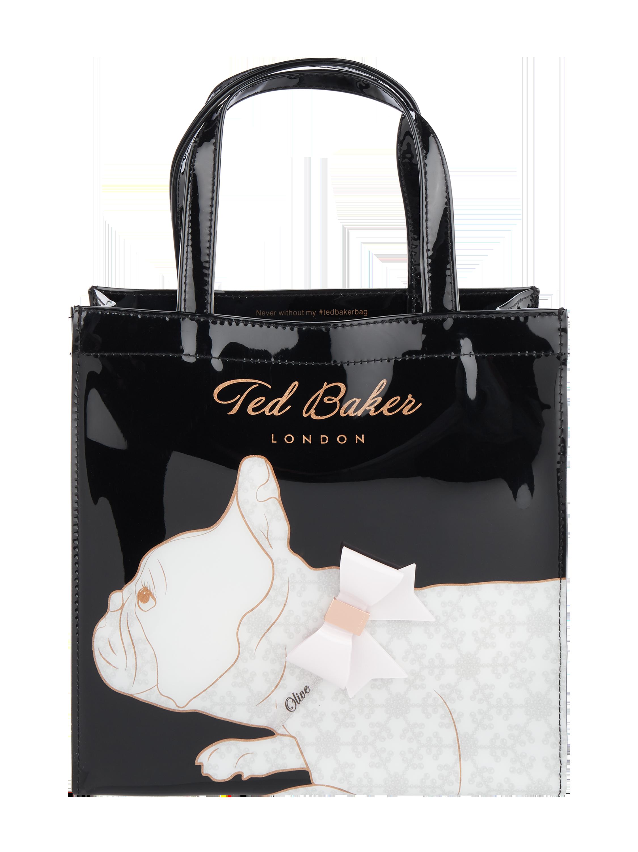 3e86b94fcc0e1 TED-BAKER Lakierowana torebka tote z aplikacją z kokardkami w kolorze Szary    czarny zakupy online (9888327) w P C ▷ wysyłka i zwrot 0zł