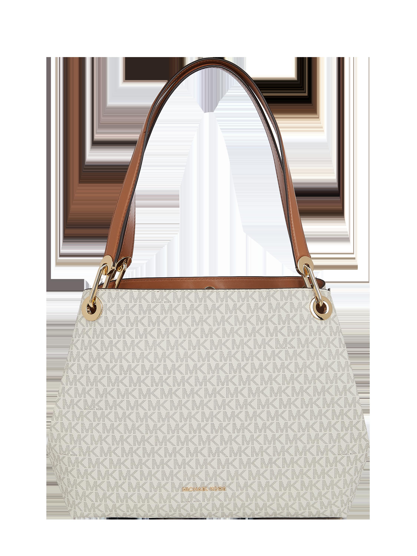 MICHAEL Michael Kors – Handtasche mit Logo Muster – Offwhite