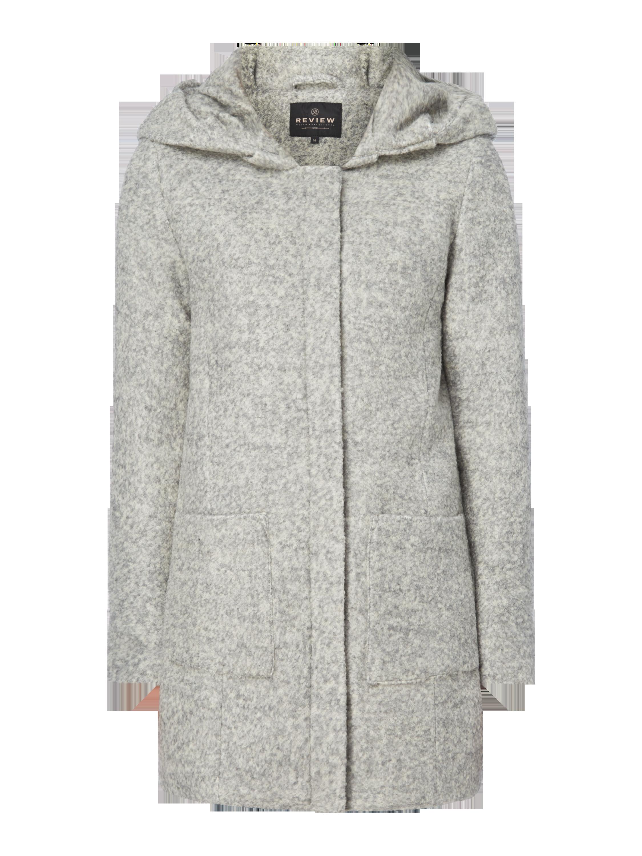 d32cdf60f53105 REVIEW Mantel aus Bouclé in Grau / Schwarz online kaufen (9720997) ▷ P&C  Online Shop