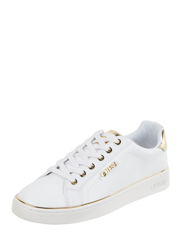 Guess – Sneaker mit Logo Prägungen – Weiß
