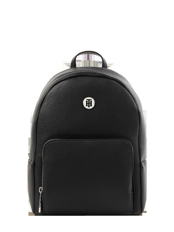 160634638066d TOMMY-HILFIGER Plecak z kieszenią na przodzie w kolorze Szary   czarny  zakupy online (9893681) ▷ P C Online Shop