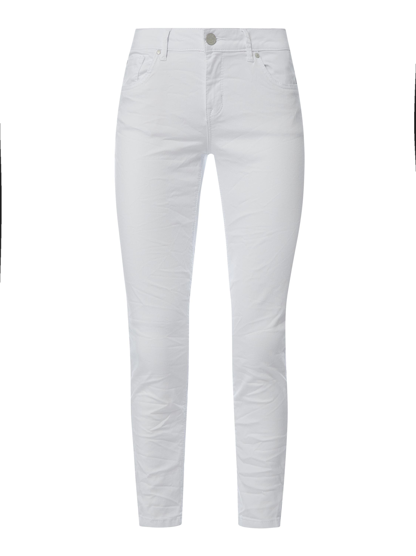 Buena Vista – Cropped Jeans mit Zip Details Modell 'Italy' – Weiß