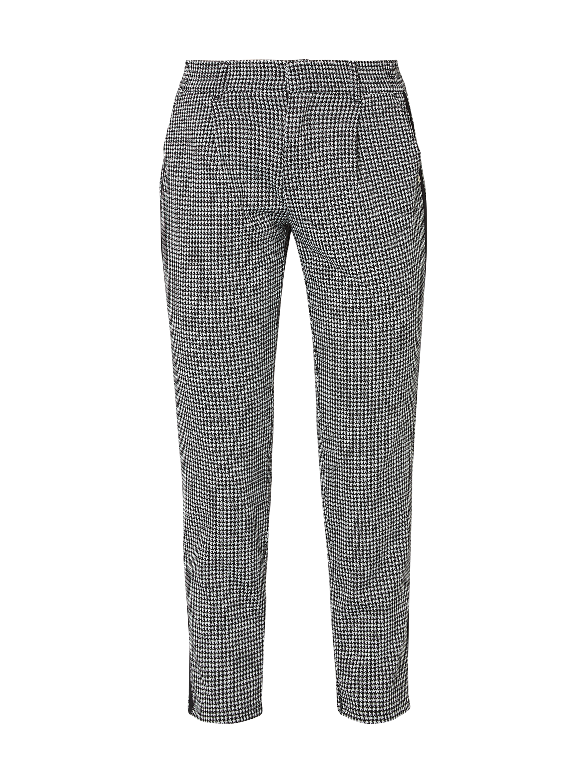 Tom Tailor Denim – Spodnie typu track pants z wzorem w pepitkę – Czarny