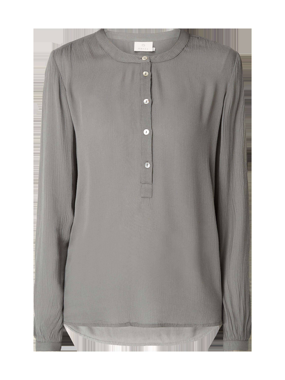 Hilfiger Denim Blusenshirt aus Viskose mit Raffungen Damen Bluse NEU