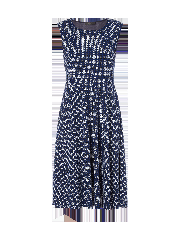 WEEKEND MAX MARA Kleid mit Allover Muster in Blau Türkis online