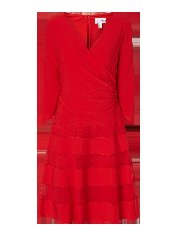 ribkoff – kleid mit mesheinsätzen – rot