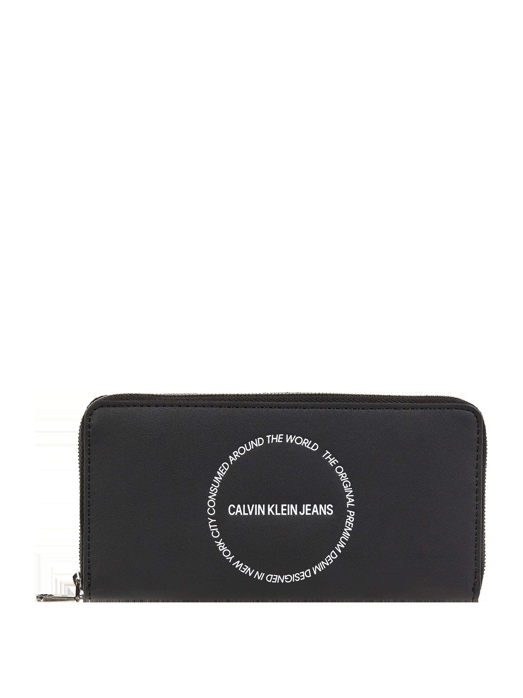 CK Calvin Klein – Geldbörse mit unterteiltem Hauptfach – Schwarz