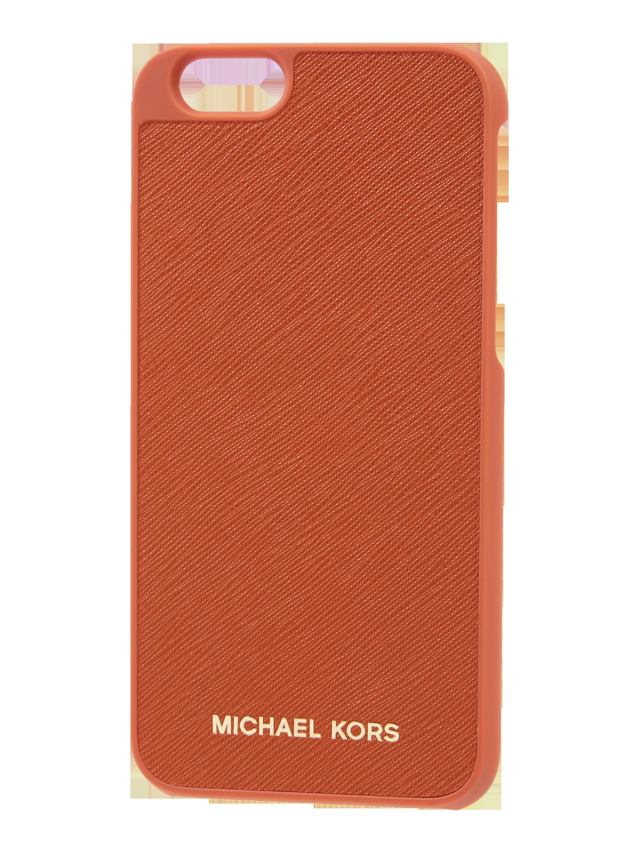 958084b113c24 MICHAEL-MICHAEL-KORS iPhone 6 Case aus Saffianoleder in Orange online  kaufen (9560557) ▷ P C Online Shop Österreich