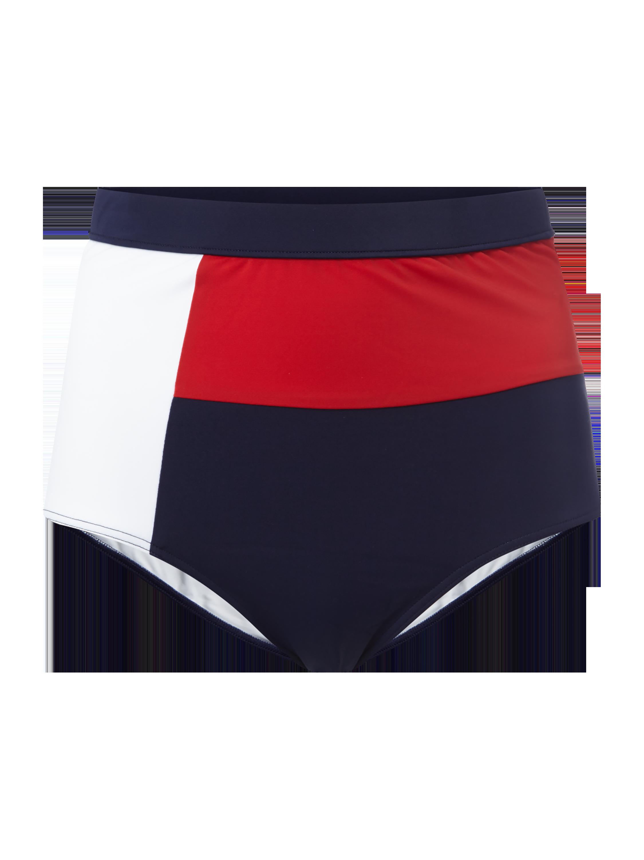 04f9199e5e1b6f TOMMY-HILFIGER Figi bikini z wysokim stanem o wielokolorowym designie w  kolorze Niebieski / turkusowy zakupy online (9758241) w P&C ▷ wysyłka i  zwrot 0zł