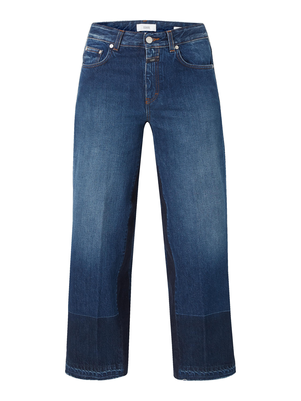 Closed – Culotte aus Denim mit ausgefransten Abschlüssen – Jeans