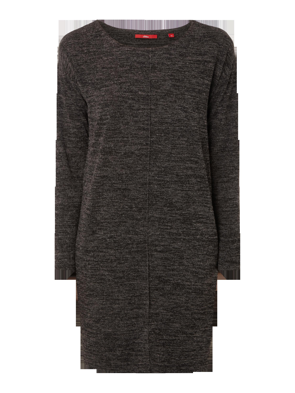 6b8254d183fe S-OLIVER-RED-LABEL Strickkleid in Melangeoptik in Grau   Schwarz online  kaufen (9553307) ▷ P C Online Shop