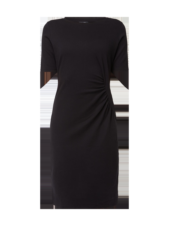 Marc O Polo Kleid mit Teilungsnaht und Raffungen Grau   Schwarz ... 8805350743