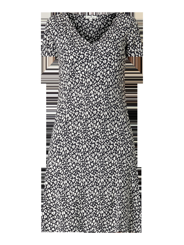 Tom Tailor – Kleid mit floralem Muster – Marineblau