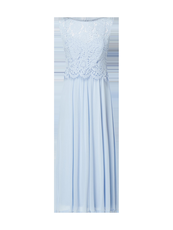 98e69d52fab COMMA Kleid aus Spitze und Mesh in Blau   Türkis online kaufen (4001078) ▷  P C Online Shop