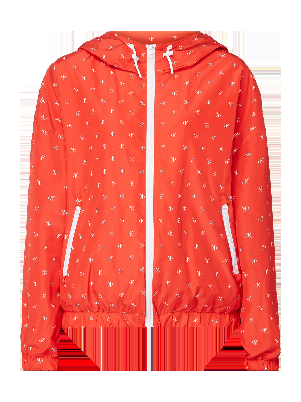 Calvin Klein Jeans – Jacke mit Logo Muster – Rot