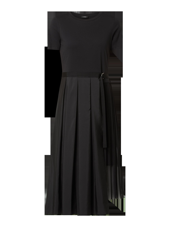 riani – kleid mit kellerfalten – schwarz