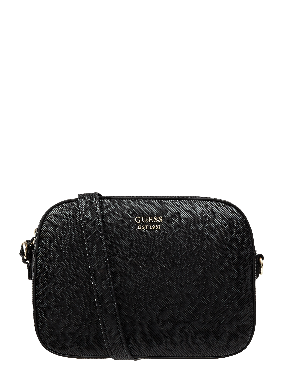 GUESS Crossbody Bag mit Saffiano Struktur in Grau Schwarz