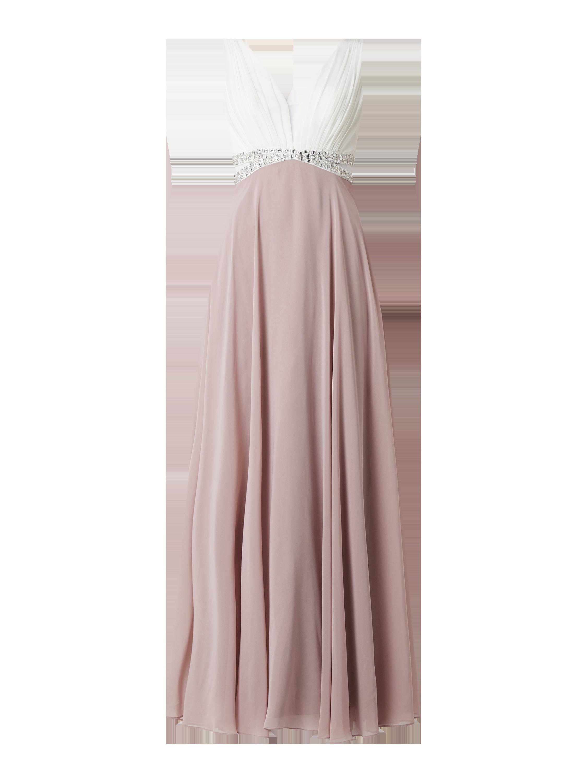 Jakes Cocktail – Abendkleid aus Chiffon mit Ziersteinen – Mauve