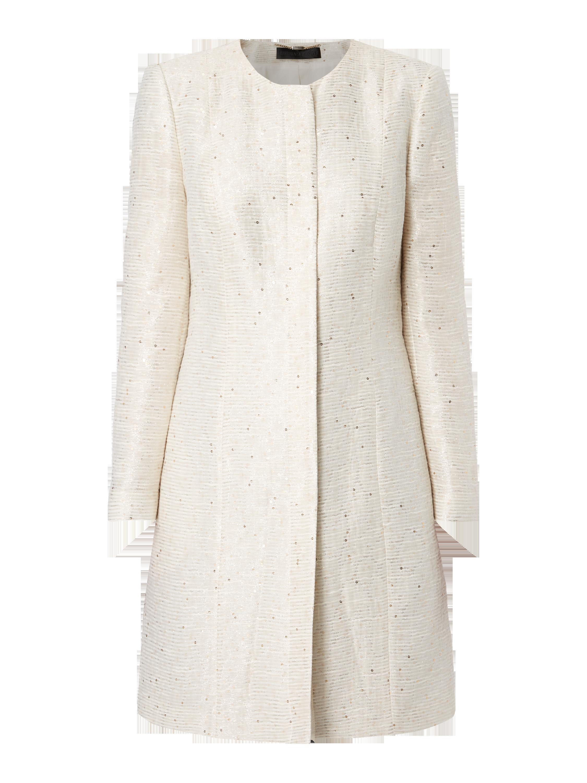 BARBARA-SCHWARZER Gehrock mit Effektgarn und Pailletten in Weiß online  kaufen (9610618) ▷ P C Online Shop 8739fa91a9
