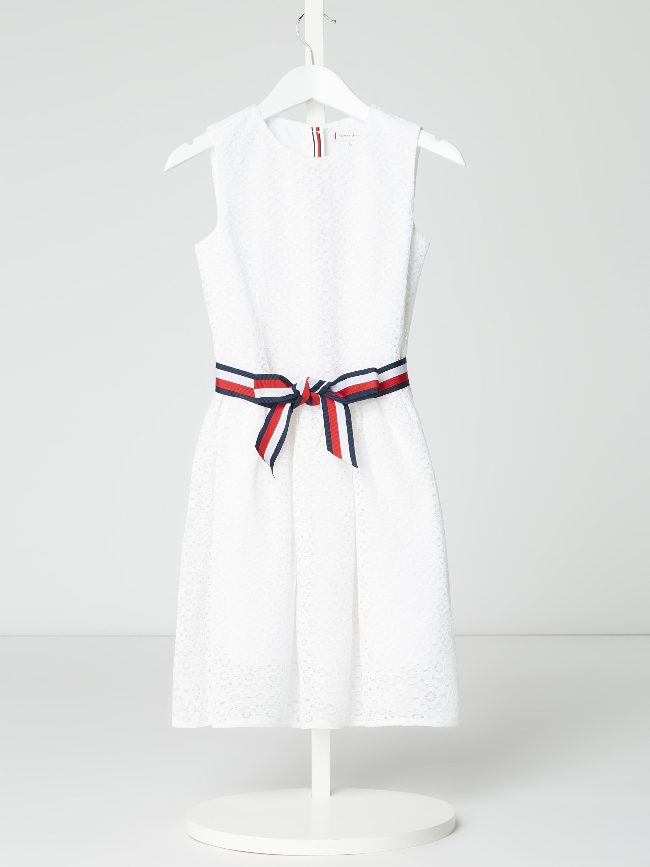 t. hilfiger teens – kleid aus spitze – weiß