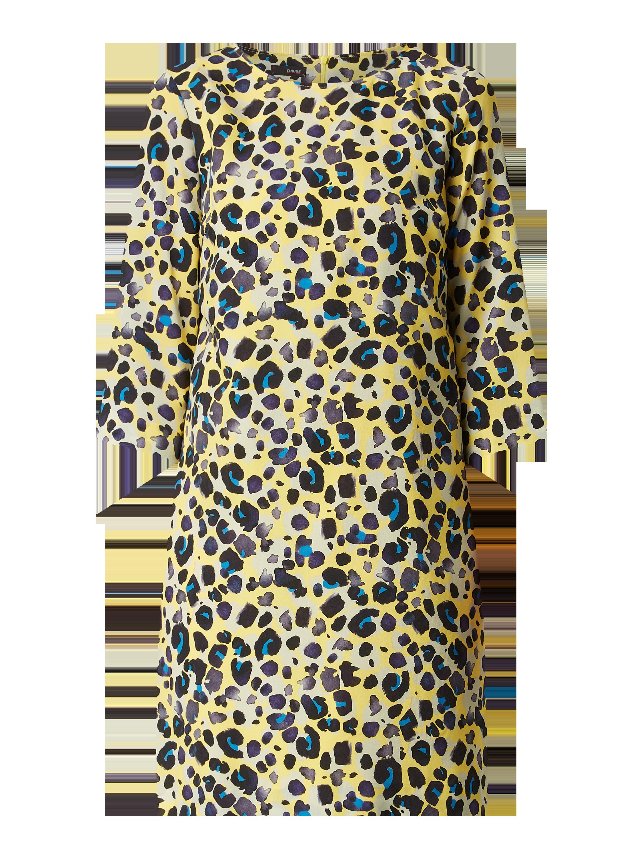 Cinque – Kleid mit Leopardenmuster – Gelb