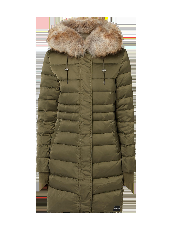 bc6d7438d7207 CALVIN-KLEIN-JEANS Płaszcz puchowy z kapturem w kolorze Zielony zakupy  online (9839817) w P&C ▷ wysyłka i zwrot 0zł