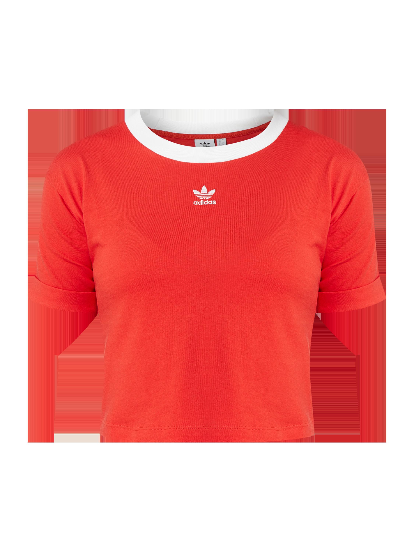 ADIDAS Originals – Krótka bluzka z wyhaftowanym logo – Czerwony