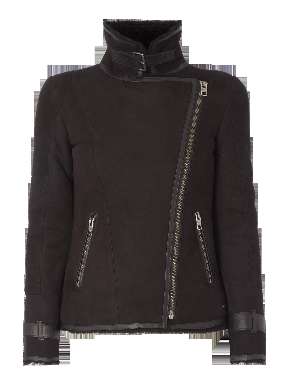 TIGHA Lederjacke mit Lammfell in Grau   Schwarz online kaufen (9503520) ▷  P C Online Shop 9160e52d50