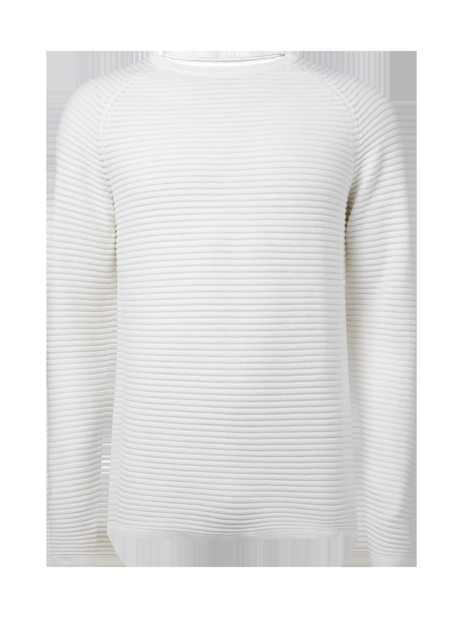 efc9e93fbd4a59 JACK-JONES Pullover mit strukturiertem Streifenmuster in Weiß online kaufen  (9493713) ▷ P C Online Shop Österreich