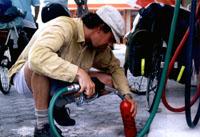 Benzinebranders (om op te koken) zijn beter verkrijgbaar dan gastankjes in Spanje