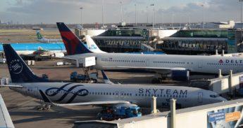 Vliegtuigen op Schiphol