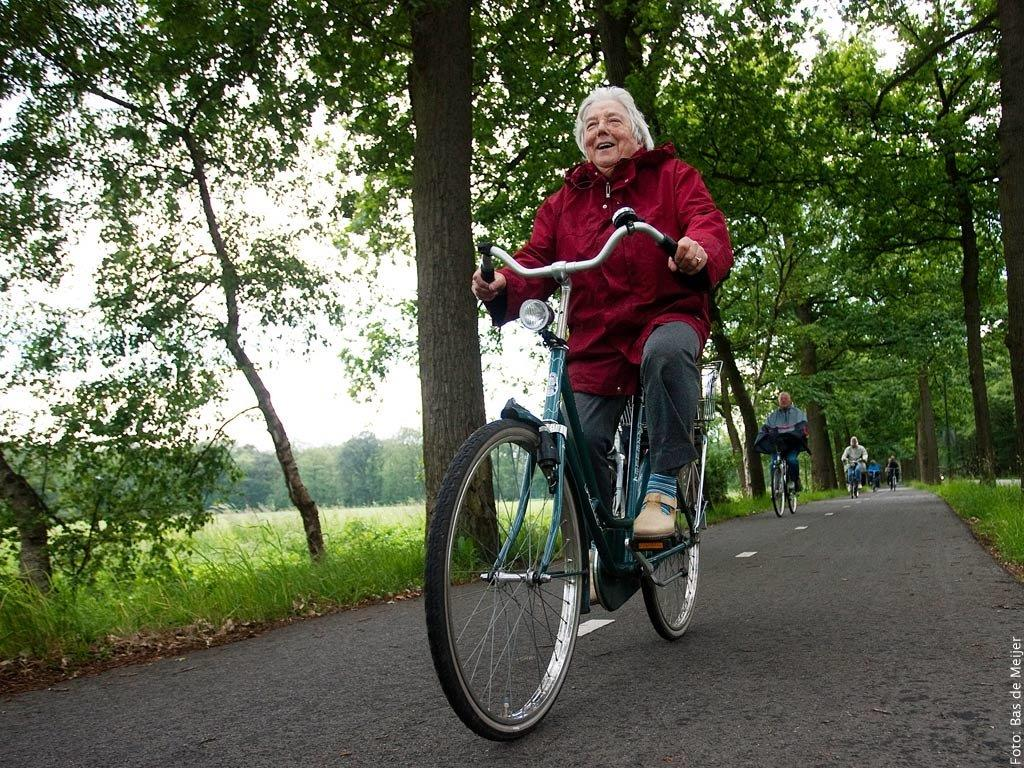 Oudere fietser