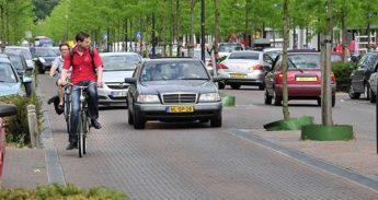 Fietsers in Enschede