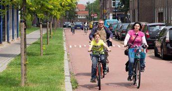 Fietsers in Nijmegen.