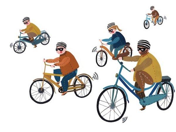 fietsers diefstal