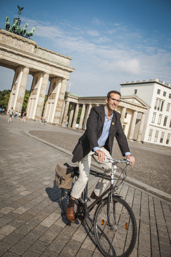 Volksentscheid Fahrrad in Berlin. Heinrich Stößenreuther. Foto: Steffen Roth