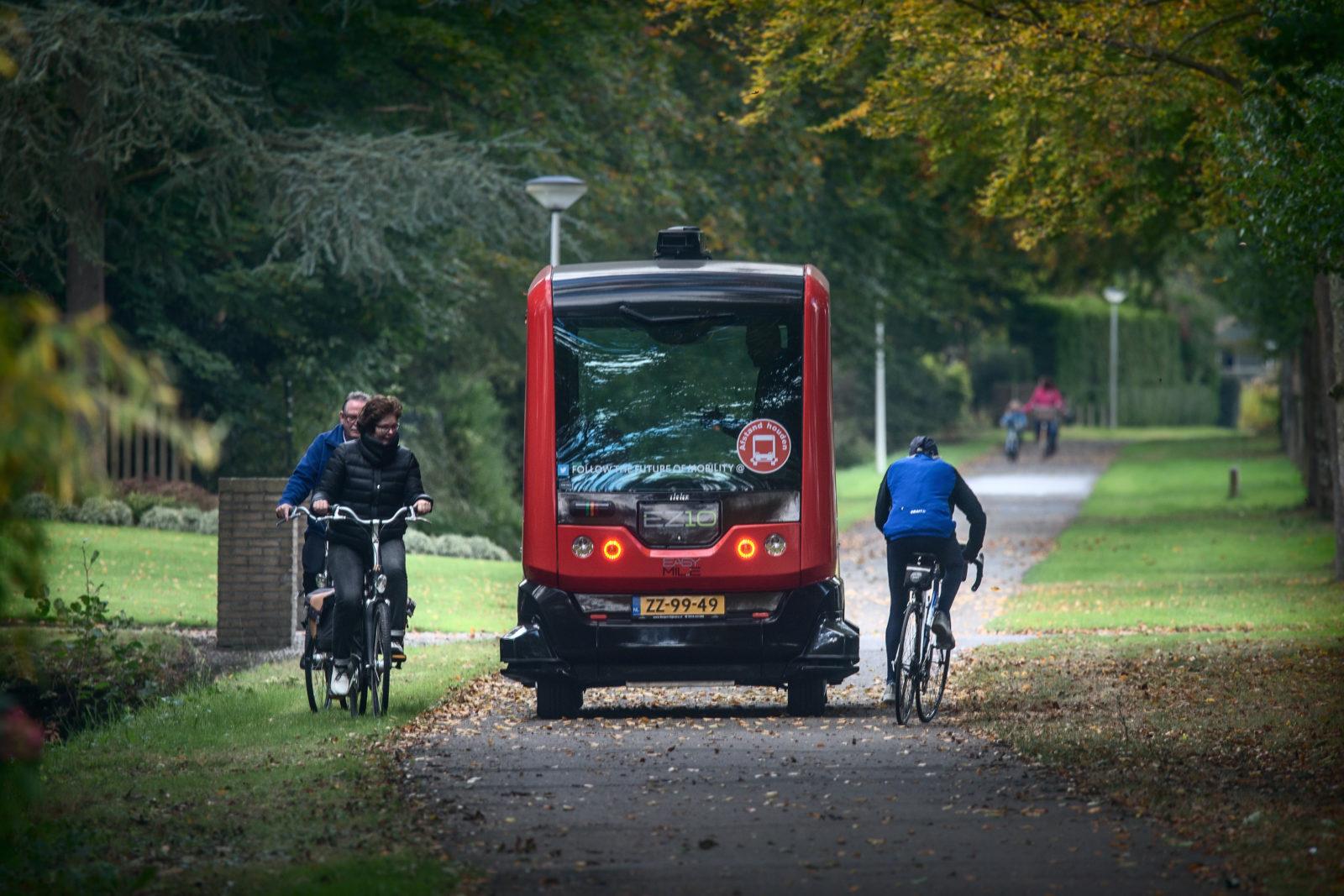 Een zelfrijdende bus in Appelscha