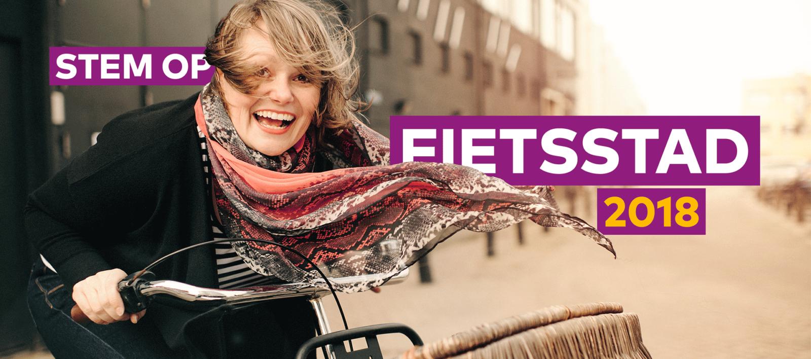 Campagnebeeld Fietsstad Verkiezing