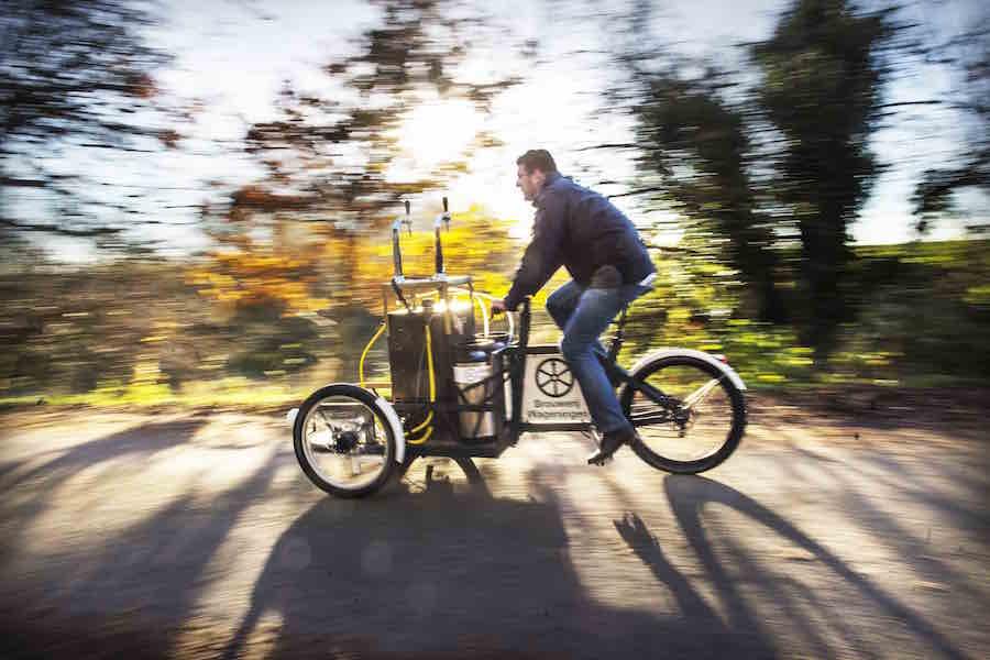 bierbakfiets van Brouwerij Rad van Wageningen met Stefan Duurkoop