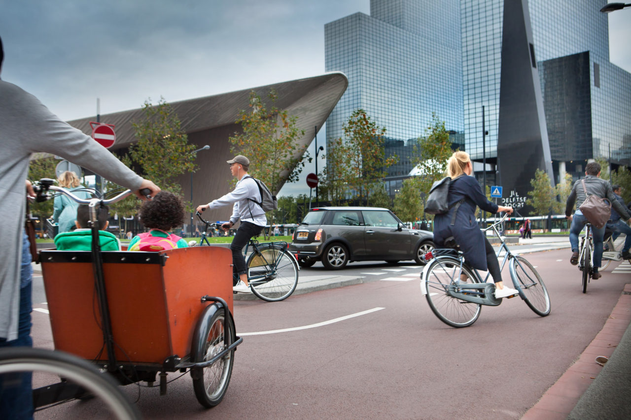 Drukte in Rotterdam