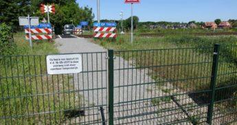 De overgang bij Heemstede.