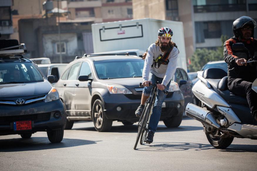 Zein Soubra (21), fietskoerier