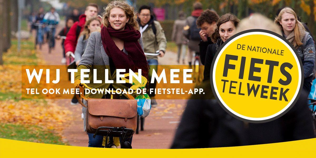 Fiets Telweek. Tel ook mee, download de Fietstel-app.