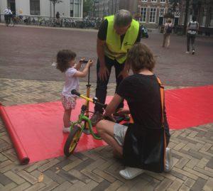 Er werd flink gepompt in Houten tijdens Happen en Trappen