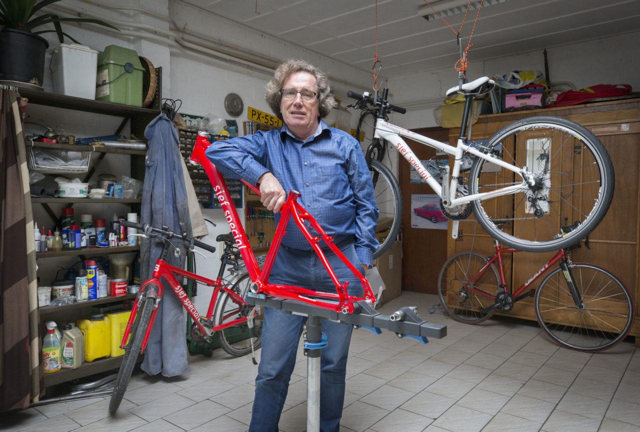 sjef schellings maakt fietsen op maat
